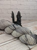 Grey and Black Indie dyed yarn
