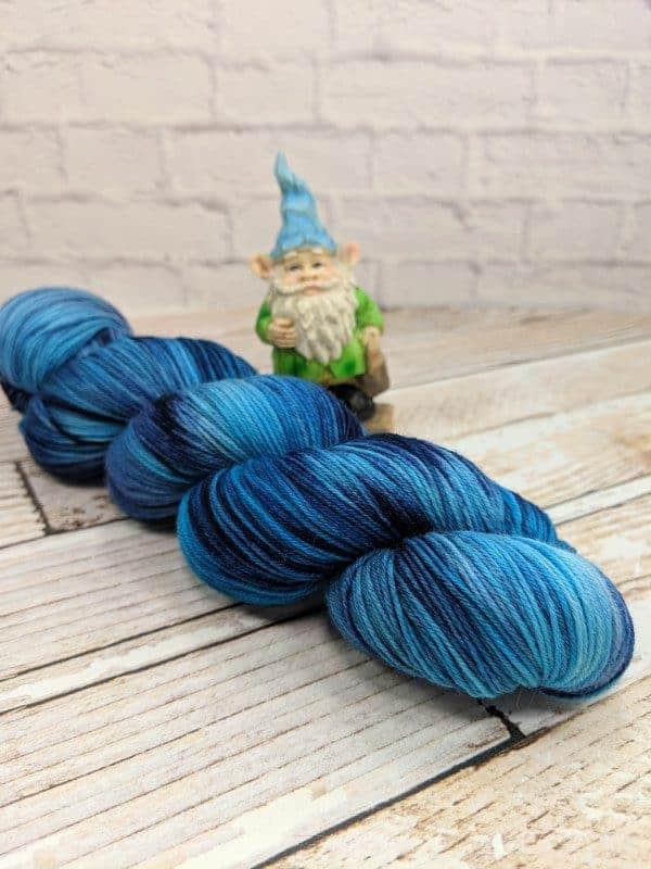 blue tonal sock yarn