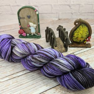 purple fantasy worsted weight yarn