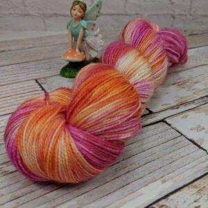 Pink Orange Shawl Yarn