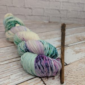 Purple Speckle Yarn