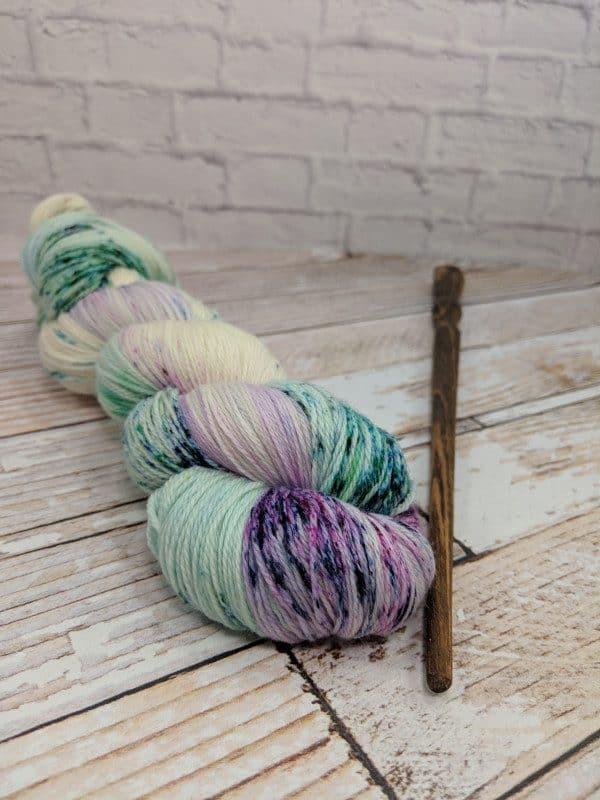 Purple Speckle Yarn
