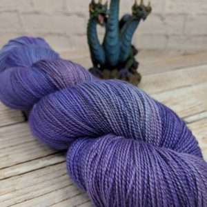Purple silk shawl yarn