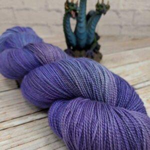 Purple silk shawl yarn