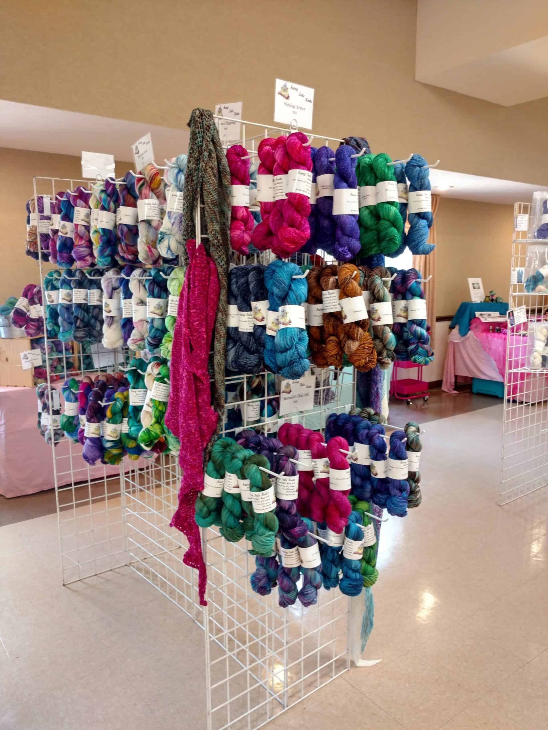 Hand dyed yarn at fiber festival